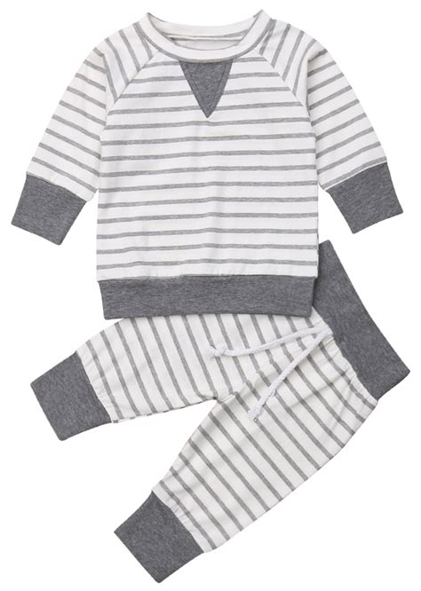 Striped Crew Set   Kids outfits, Boy outfits, Online kids