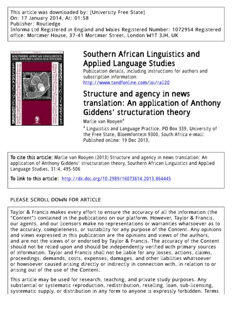 (PDF) Structure and agency in news translation: An