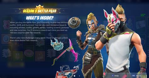 Fortnite Season 5 Battle Pass skins, price, details, and