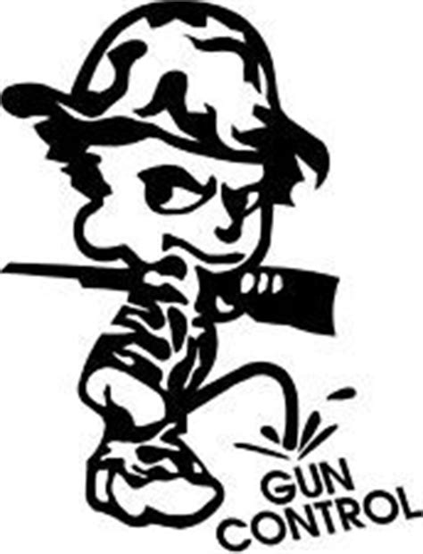 vechile stickers for red neck girls | PEE PISS ON GUN