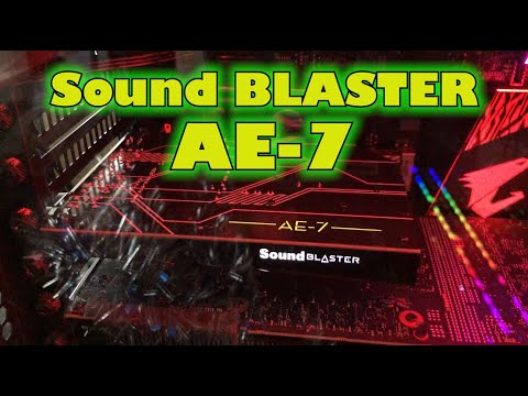 New Sound Blaster AE-9 and AE-7 audiophile sound cards