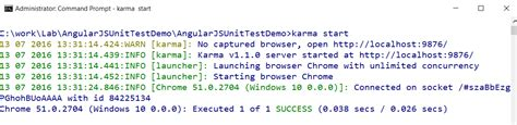 Using jasmine and karma to Write and Run Unit Tests for