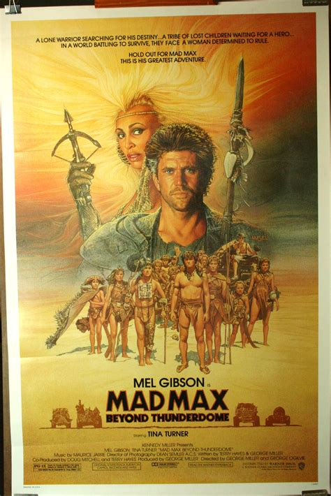 """MAD MAX BEYOND THUNDERDOME """"1 Sheet"""" Movie Poster"""